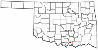 Madill, Oklahoma - Image: OK Map doton Madill