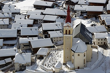 Roman Catholic parish church Saint Ulrich in Obertilliach, East Tyrol (Osttirol).