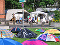Occupy, Düsseldorf, May 2012, umbrellas (2).jpg