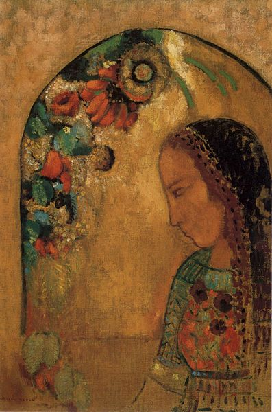 http://upload.wikimedia.org/wikipedia/commons/thumb/7/76/Odilon_Redon_-_%27Lady_of_the_Flowers%27%2C_oil_on_canvas%2C_c._1890-95.JPG/397px-Odilon_Redon_-_%27Lady_of_the_Flowers%27%2C_oil_on_canvas%2C_c._1890-95.JPG