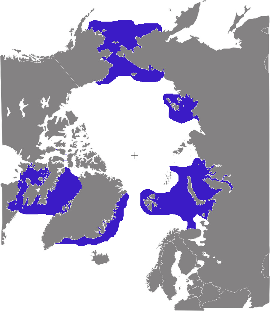 Odobenus rosmarus distribution