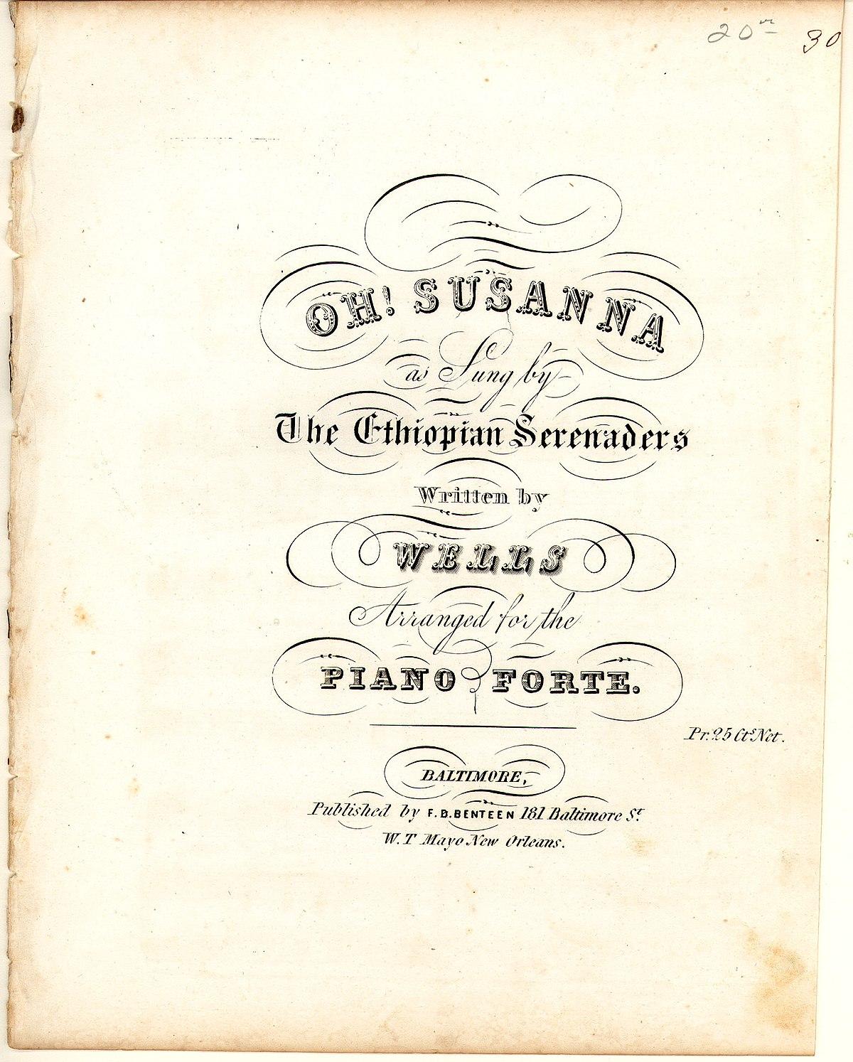 Oh! Susanna - Wikipedia