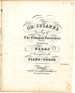 Oh! Susanna (original lyrics) - Wikisource, the free online