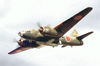 Mitsubishi G4M - 721st Kōkūtai G4M2e bomber carrying an Ohka (image of a plastic model)