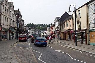 Okehampton town in Devon, England