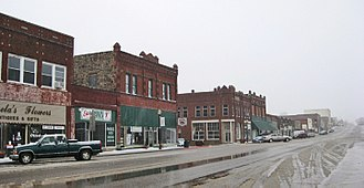 Okemah, Oklahoma - West Broadway, Downtown
