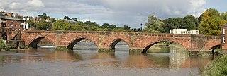Old Dee Bridge Grade I listed bridge in Chester, UK