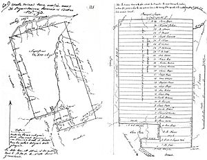 Old Mines, Missouri - Surveys of the Old Mines land concession of 1803 show the original owners of the 400-arpent plots assigned by lottery