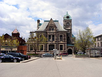 Cambridge, Ontario - Old Post Office in Galt, built in 1886