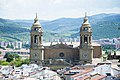 Old city of Pamplona and its Cathedral from the top of san cernin's tower.jpg