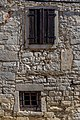 Old windows in Buzet, Istria County, Croatia.jpg