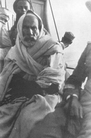Omar Mukhtar - Omar Mukhtar shortly after a battle.