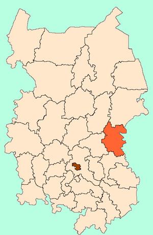 Нижнеомский район на карте