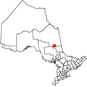 Map of Timmins, Ontario
