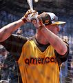 Orioles slugger Mark Trumbo takes batting practice on Gatorade All-Star Workout Day. (28063205364).jpg