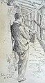 Oscar Achenbach – bei der Arbeit – in Rothenburg am 14. August 1921.jpg