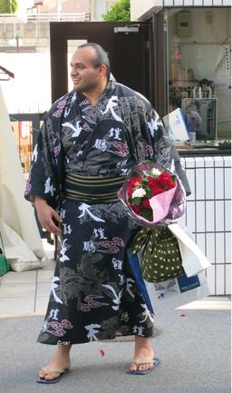 Osunaarashi Kintaro after May grand Tournament Tokyo, Ryogoku Kokugikan