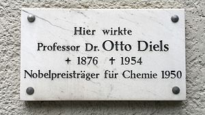 Otto Diels - Commemorative plaque for Otto Diels in Kiel, Germany