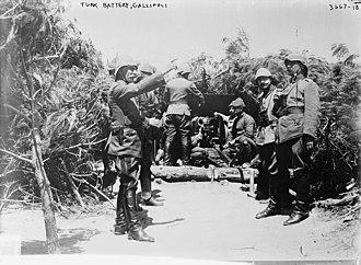 Mehmet Esat Bülkat - Esat Pasha delivering orders to the batteries at Anzac Cove