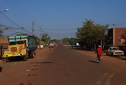 A road in Ouahigouya
