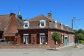 Houses in the centre of the village