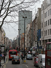 Oxford Street, with Centre Point in the background
