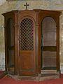 Périgueux église St Georges confessionnal.JPG