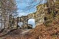 Pörtschach Leonstein Burgruine NW-Tor zum äußeren Hof 29032020 8605.jpg