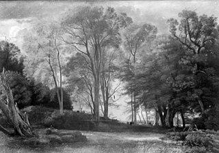 Skovlandskab med græssende kvæg