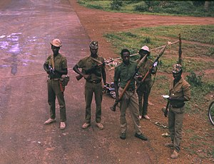 Guinea-Bissau War of Independence - PAIGC soldiers at a checkpoint in 1974