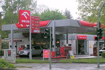 Station-service Orlen à Berlin (Allemagne)