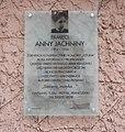 POL Anna Jachnina plaque, Warsaw 01.jpg