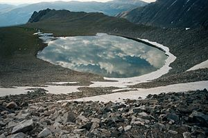 Pacific Tarn - Pacific Tarn in the Tenmile Range of Colorado