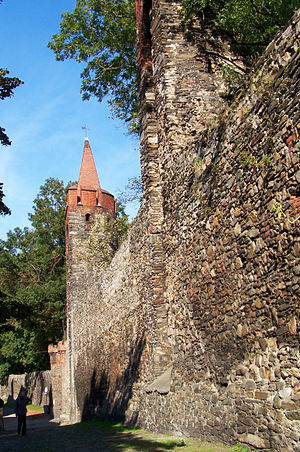 Paczków - Part of the medieval city walls.