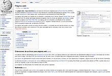 Página Web Wikipedia La Enciclopedia Libre