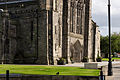Paisley Abbey from North West - Base of leaning western gable.jpg