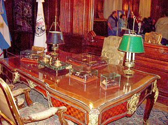 Palacio de la Legislatura de la Ciudad de Buenos Aires - Image: Palacio de la Legislatura Buenos Aires Escritorio Evita