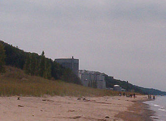 Palisades Nuclear Generating Station - View from Van Buren State Park