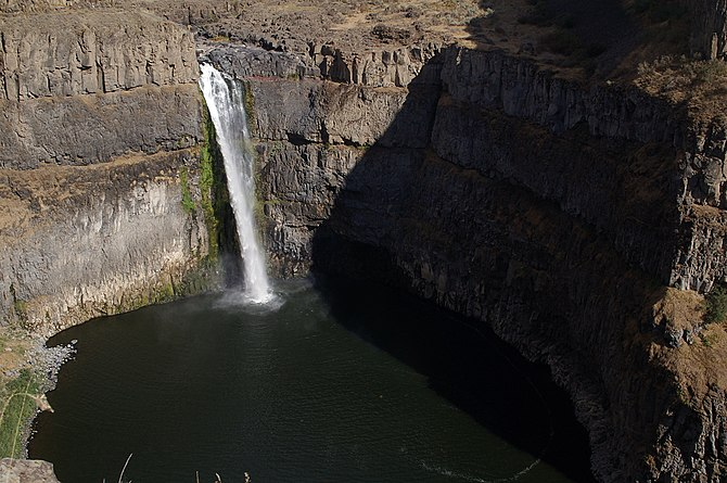English: Palouse Falls in late August, when th...