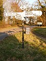 Pamphill, repaired signpost at Hillbutts - geograph.org.uk - 1741441.jpg