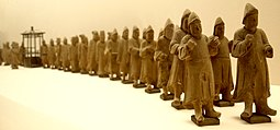 Processional figurines from the Shanghai tomb of Pan Yongzheng, a Ming dynasty official who lived during the 16th century PanYongzheng-ProcessionalTombFigurines-ShanghaiMuseum-May27-08.jpg
