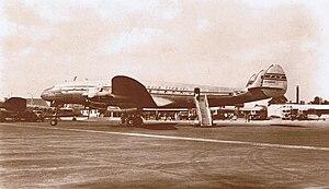 Bermuda Agreement - Pan Am Lockheed Constellation at Heathrow Airport, London