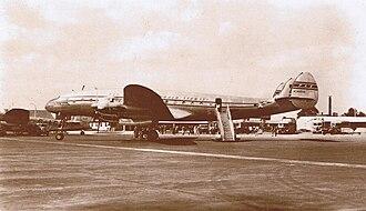 Lockheed L-049 Constellation - A Pan American World Airways L-049 Constellation at London Heathrow International Airport.
