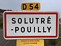 Panneau Entrée Solutré Pouilly Route Roche - Solutré-Pouilly (FR71) - 2021-03-02 - 1.jpg