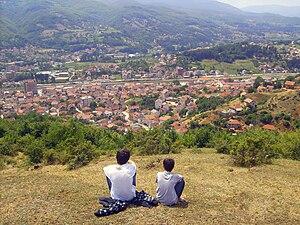 Kaçanik - Image: Panorama of Kacanik, Kosovo