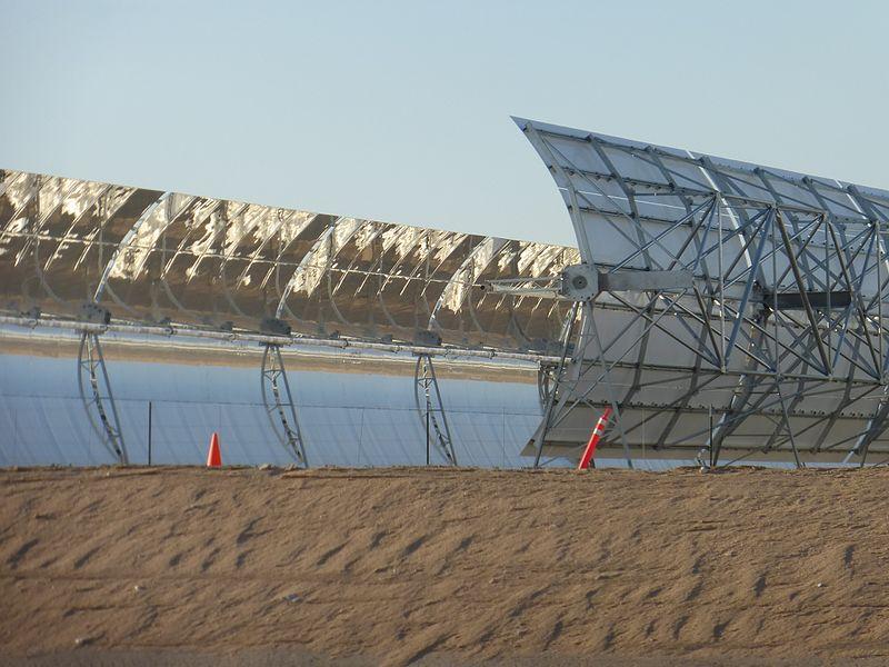 Parabolic trough near Harper Lake in California front and back.jpg