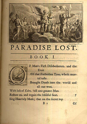 Book collecting - The beginning of Paradise Lost from a 1720 illustrated edition. Not a first edition but desirable among antiquarians.