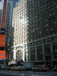 Paramount Theatre (New York City) former movie theater and theater in Midtown Manhattan, New York City, United States