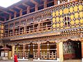 Paro Dzong from the court, Paro, Bhutan.JPG