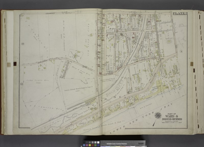 File:Part of Ward 4. (Map bound by Richmond Ave, Sea Ave (Sand), Seaside Boulevard, Lower New York Bay, Staten Island Rapid Transit Rail Road, Sand Ave (Lane), Old Town Road) NYPL1646276.tiff